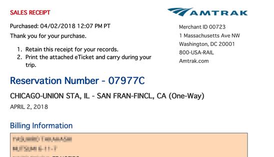 カリフォルニアゼファー号でシカゴからサンフランシスコへ2泊3日の旅