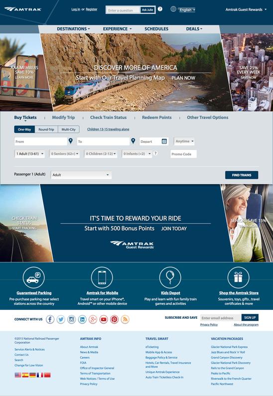 New Amtrak.com Site