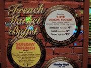オーリンズ・ホテルのフレンチ・マーケット・ビュッフェ/French market Buffetで朝食